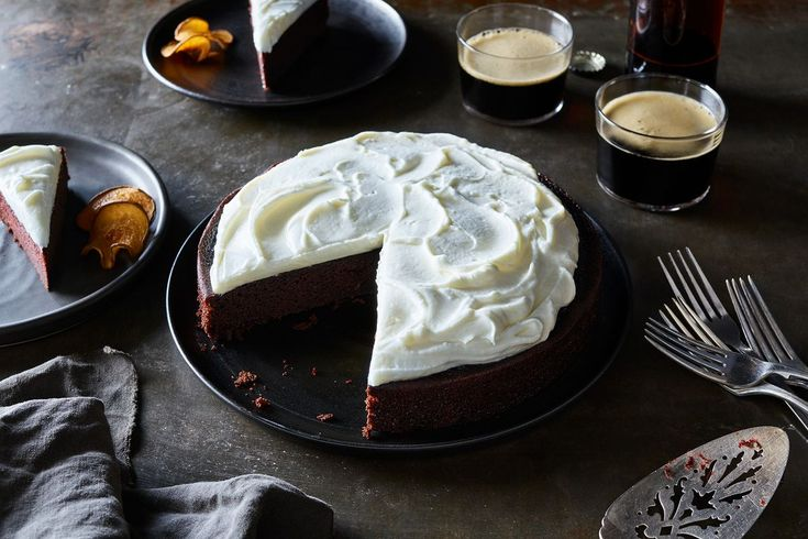 Fudgy Stout Cake Meets Spiked-Cream-Cheese Frosting in the Snake Bite