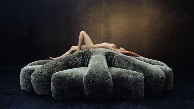 Historia Naturalis, design Fernando and Humberto Campana, made by Edra, 2006. Aster papposus. Two identical polyurethane and feather-filled star shapes fit together to form the seat, backrest and armrests of this amazingly comfortable sofa that has no rigid frame. Boa. With no frame, it consists of about 100 meters of tubular velvet filled with polyurethane chips and goose down. Kaiman jacaré. The six huge creatures are all different and can be used as standalone pieces, but they also fit…