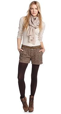 Esprit Suede Look Shorts