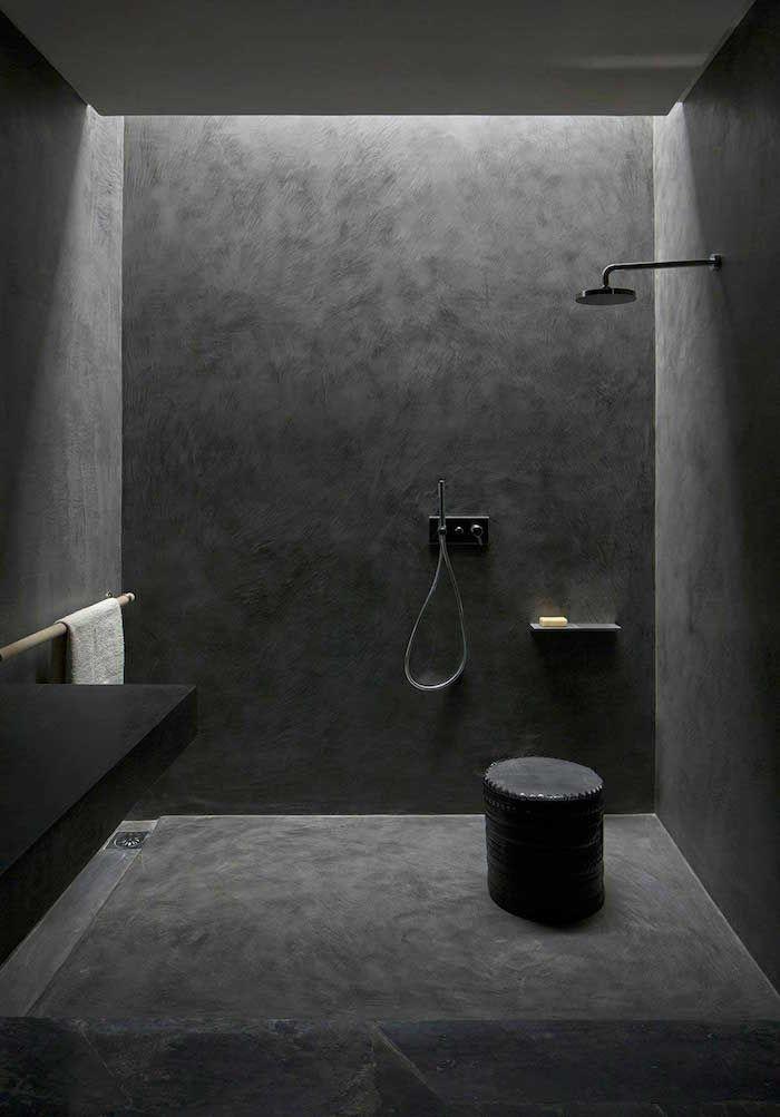 1001 Idees Salle De Bain Sans Carrelage Des Alternatives Possibles Salle De Bain En Beton Douche Beton Salle De Bain Sans Joint