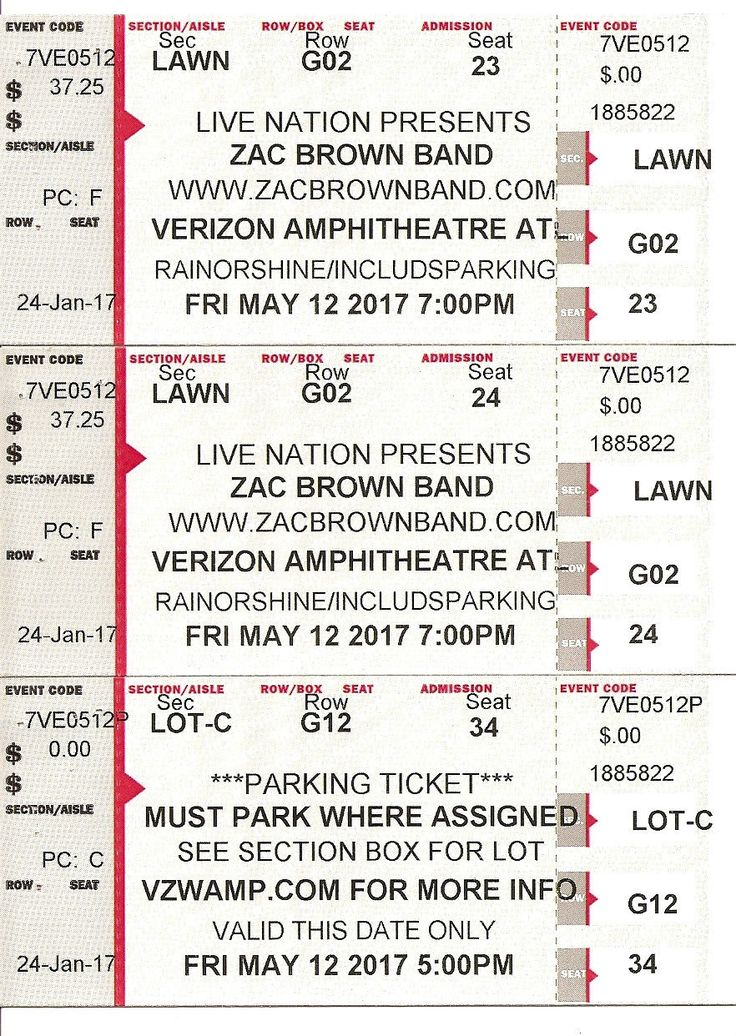 #tickets 2 Zac Brown Band Tickets 5/12/17 Verizon Amphitheatre Atlanta GA Parking please retweet