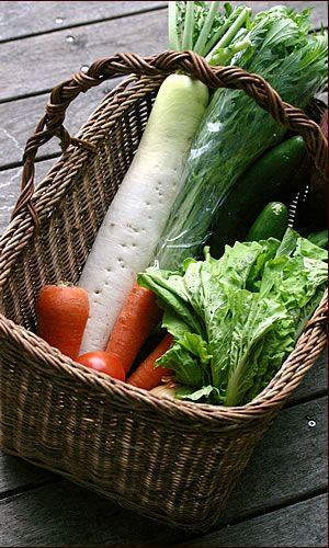 あけび野菜かご