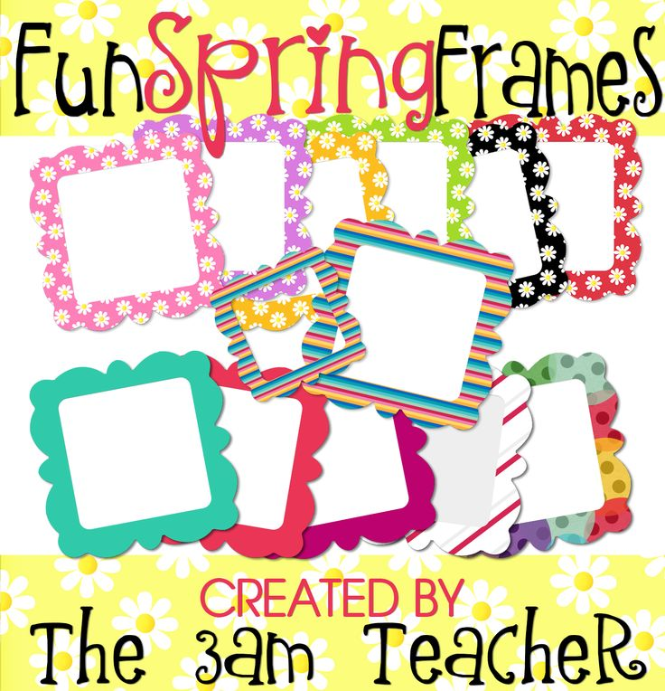 fun spring frames clip art commercial use okay