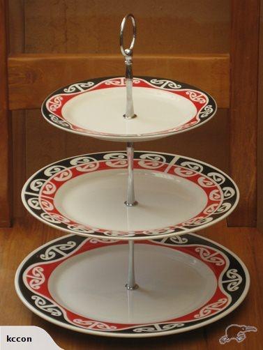 Maori Design 3 tier Display/Cake Stand | Trade Me