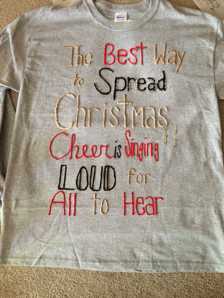Puff painting shirts for the holidays