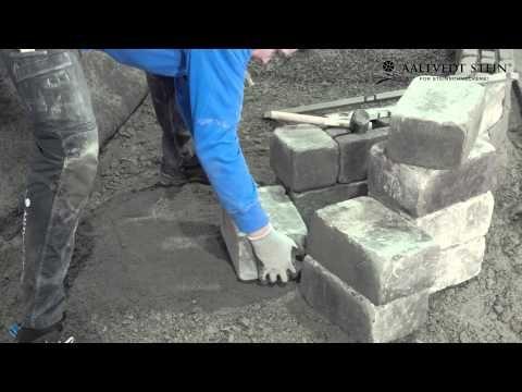 Instruksjonsvideo - oppsett av Rådhus mur med geoloc og armeringsnett #aaltvedtstein #aaltvedt #rådhus #støttemur