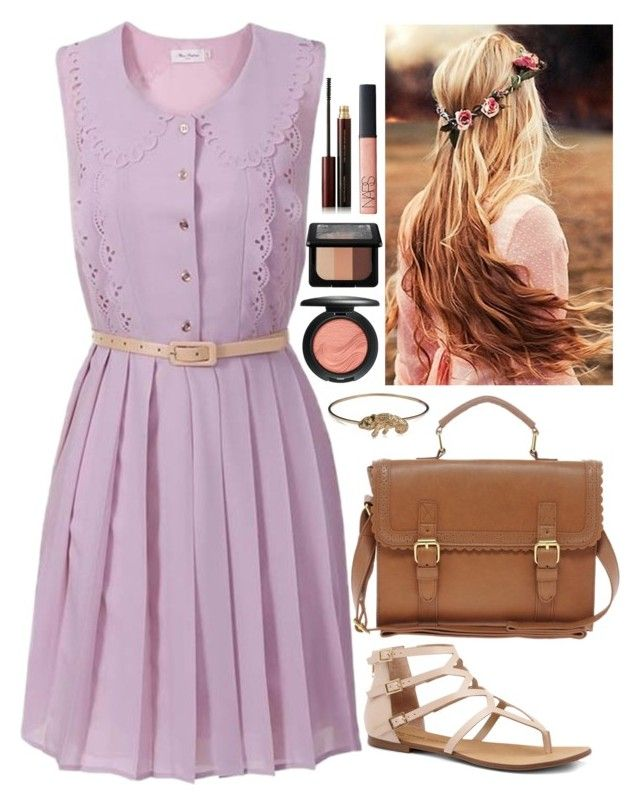 """""""Rapunzel: Day Wear"""" by missmellow on Polyvore featuring Miss Patina, Sole Society, ASOS, DOMINIQUE LUCAS, MAC Cosmetics, NARS Cosmetics, Kevyn Aucoin and Kat Von D"""