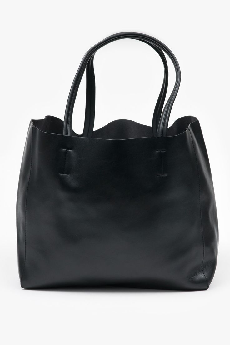 Oversized Leather Tote - Black - Superette - Designers - Superette | Your Fashion Destination.
