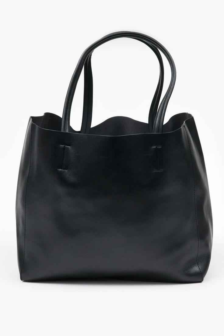 Oversized Leather Tote - Black - Superette - Designers - Superette | Your Fashion Destination.