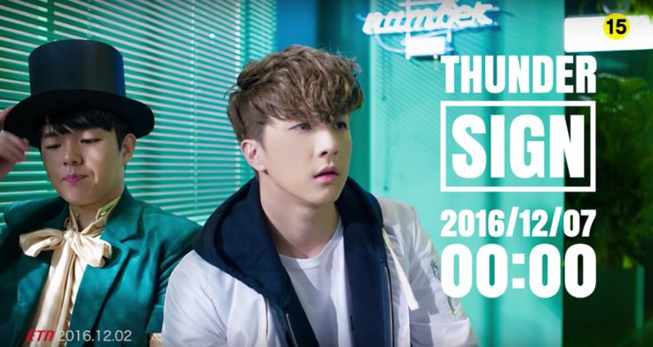 "Thunder (Park Sang Hyun) revela vídeo adelanto para ""Sign"" junto a Sandara Park via @soompi"