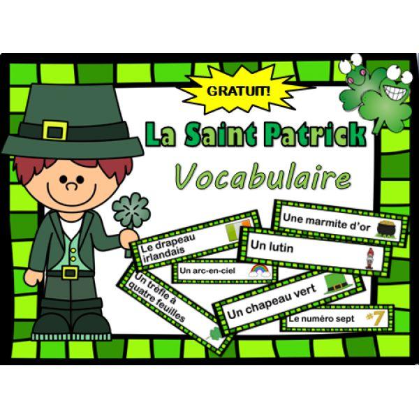 La Saint-Patrick - vocabulaire GRATUIT!