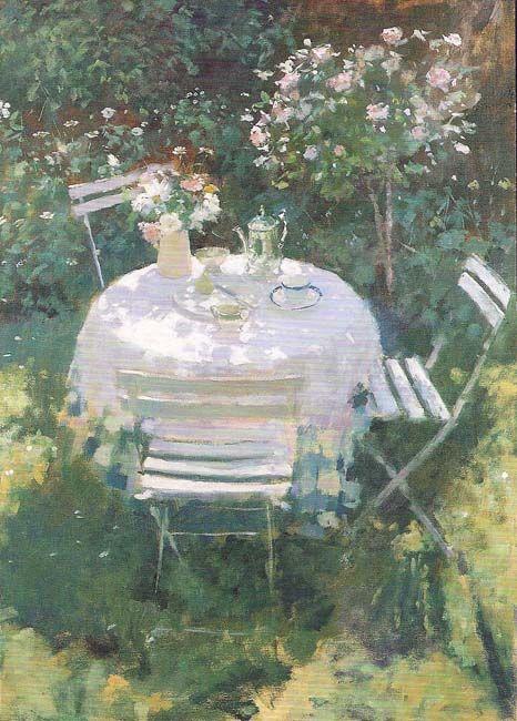 Summer Garden - Jacqueline Williams 1998 British b.1962- oil on canvas
