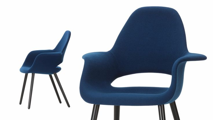 Fabric chair with armrests ORGANIC CONFERENCE Organic Collection by Vitra design Charles