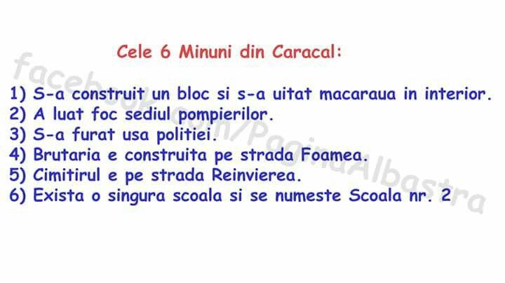 Cele 6 minuni din Caracal