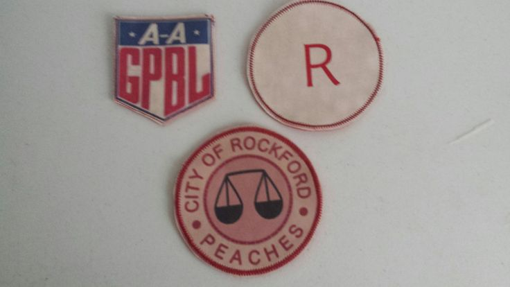 Rockford Peaches A League Of Their Own Dress Costume Patches Set of 3 by RockfordPeaches on Etsy
