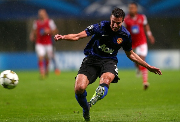 Robin Van Persie Photo - SC Braga v Manchester United - UEFA Champions League