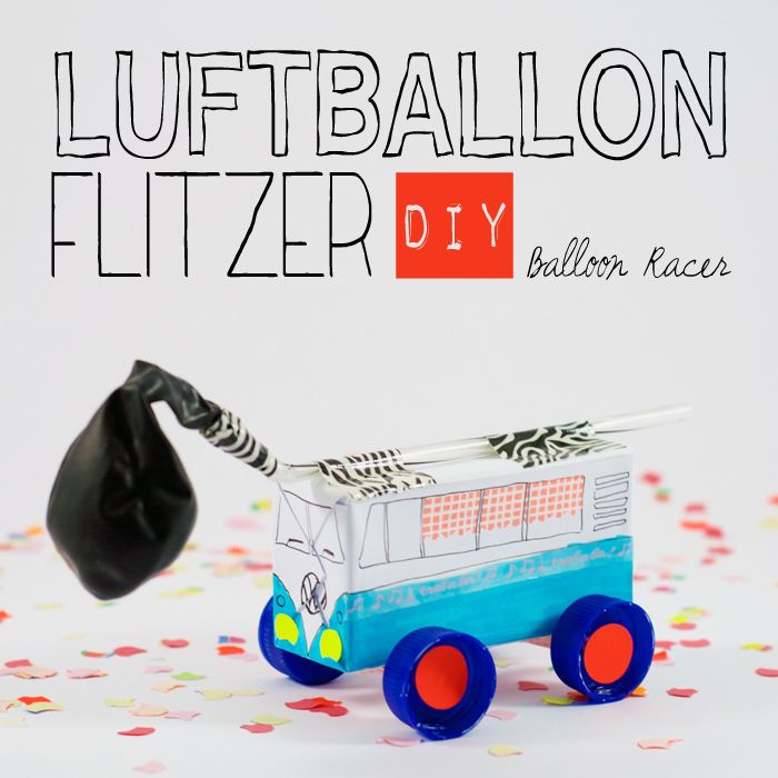 """Racing time is fun time! In this tutorial you can learn how to easily create your own balloon racers. Visit the collaborative board """"DIY bloggers for Volkswagen"""" for more great inspiration: https://www.pinterest.com/volkswagen/diy-bloggers-for-volkswagen"""