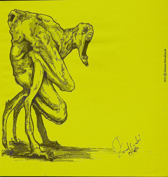 NIshant Bahukhandi / TheNIshant.com | Artwork.. #pancil #drawing #sketches #conceptart #monsters #alien #doodles