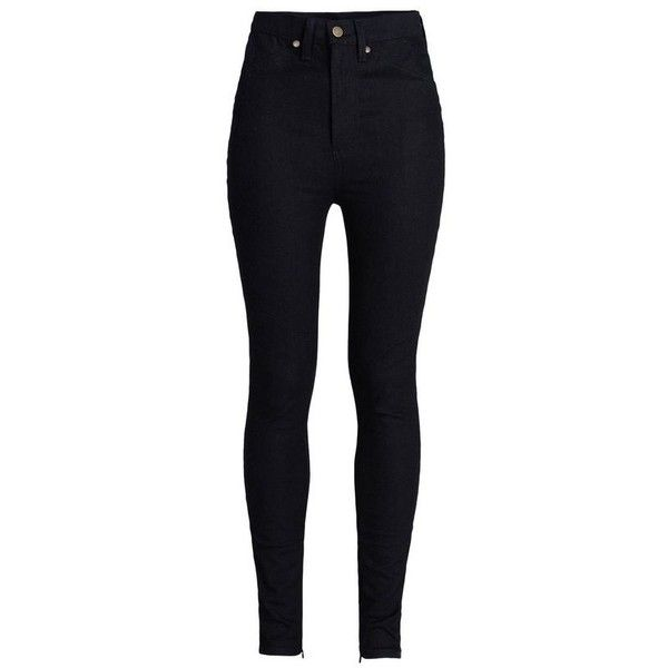 Rodarte High-Waisted Black Jeans found on Polyvore