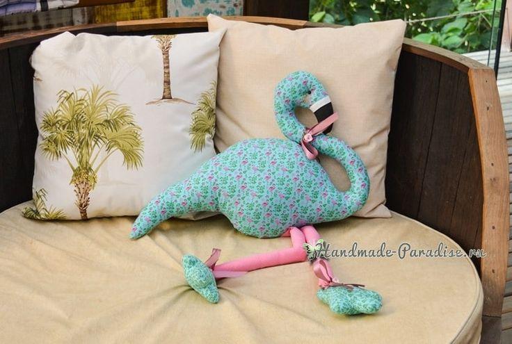 Детская игрушка-подушка «Фламинго» (1)
