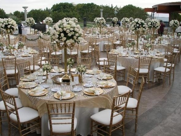 Gold And Champagne Wedding Decor Love These Tall Center Pieces