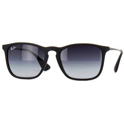 Óculos de Sol Ray Ban Chris com Lentes Cinza Degradê Unissex Preto- RB4187l6228G