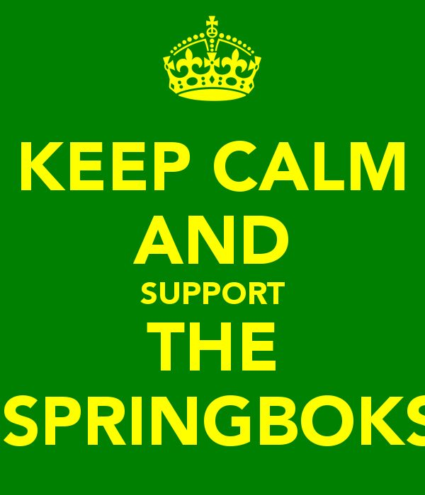 Support the Springboks!