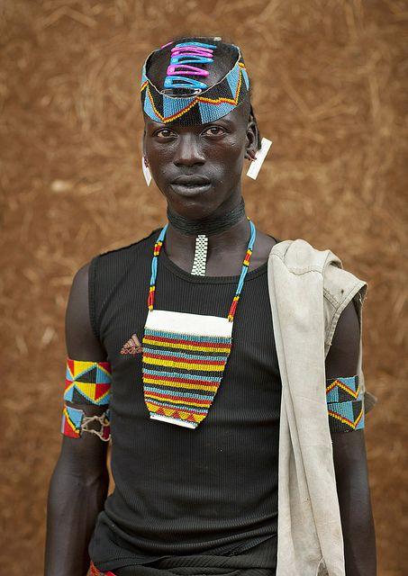 Tsemay tribe warrior - Ethiopia by Eric Lafforgue,