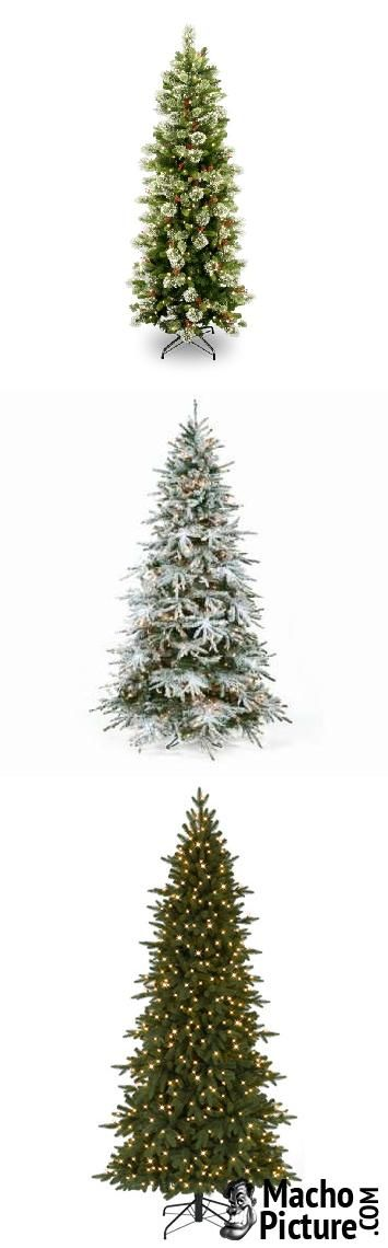 Slim artificial christmas trees - 4 PHOTO!
