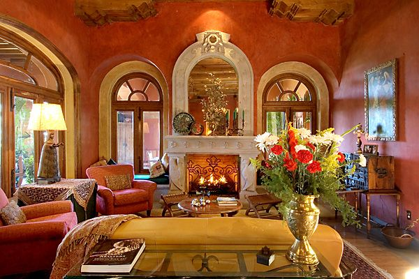 living room in spanish vocabulary white gloss corner units for colors architecture modern idea i love the coral colored stucco walls of this rh pinterest com greek