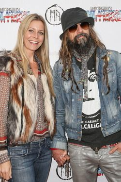 Sheri Moon Zombie and Rob Zombie