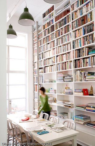 Concord Green: Double Duty Rooms: Dining Room / Library    This room is soooo cool! Love all the books :)