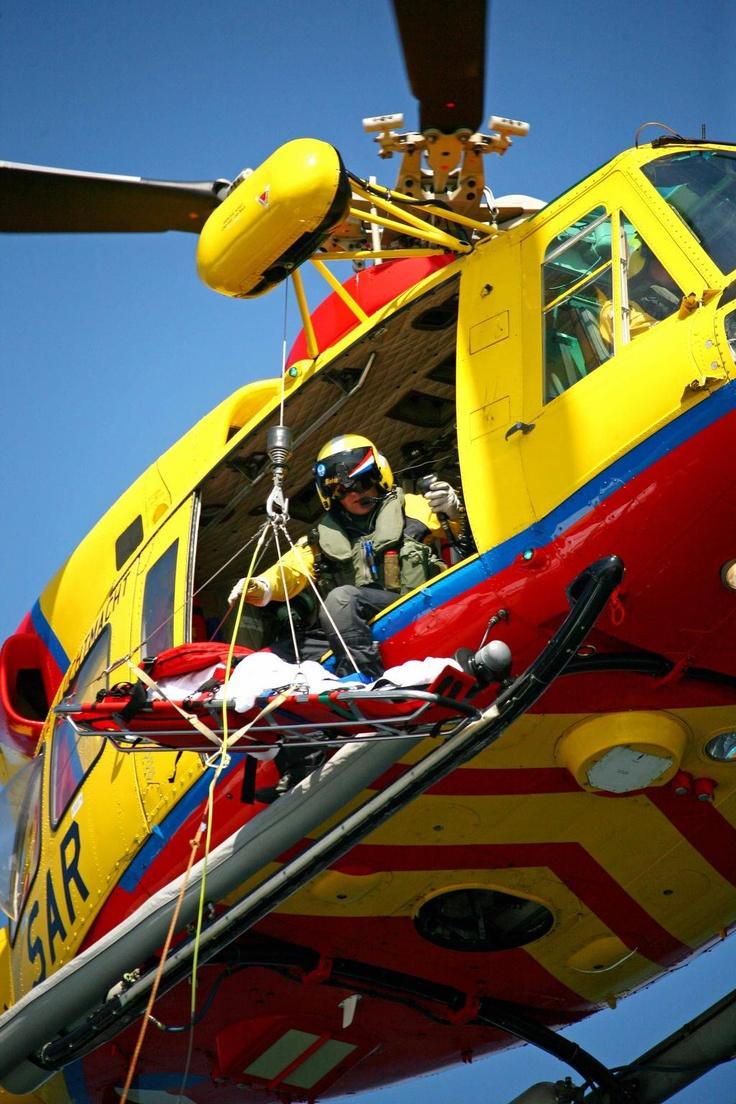 SAR Helikopter, Vlieland, Friesland.