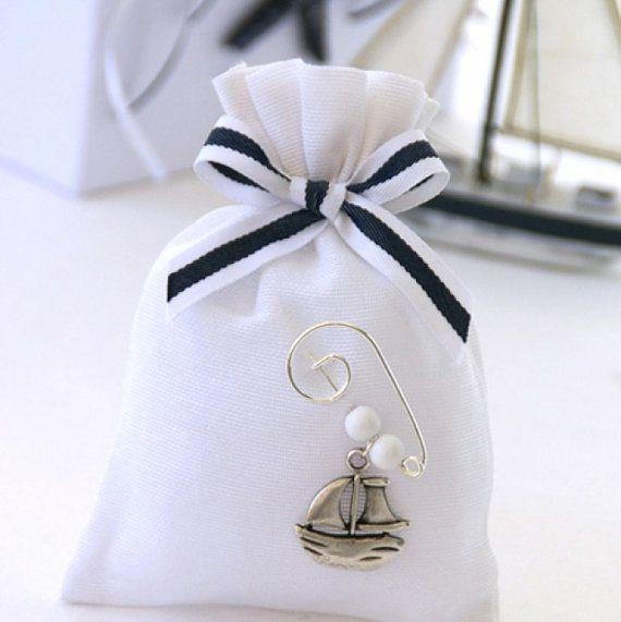 20 Nautical  baptism favors-Baby boy by letsdecorateonline on Etsy