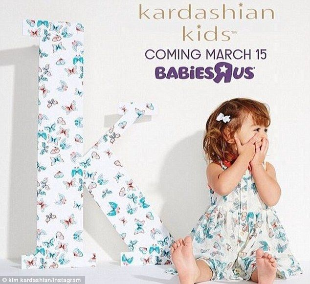Baby boom: Kim, Khloe, and Kourtney will launch the first-ever Kardashian Kids clothing line at Babies'R'Us on Saturday and, next month, their Kardashian Kollection drops at Sears in Mexico