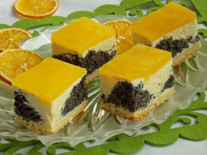 Kuchnia Mniam: Pomarańczowy seromakowiec