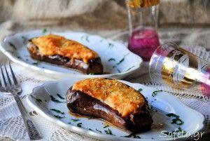 Μελιτζάνες «παπουτσάκια» με béchamel (μπεσαμέλ) από κινόα , χαμηλού γλυκαιμικού φορτίου και  χωρίς γλουτένη!