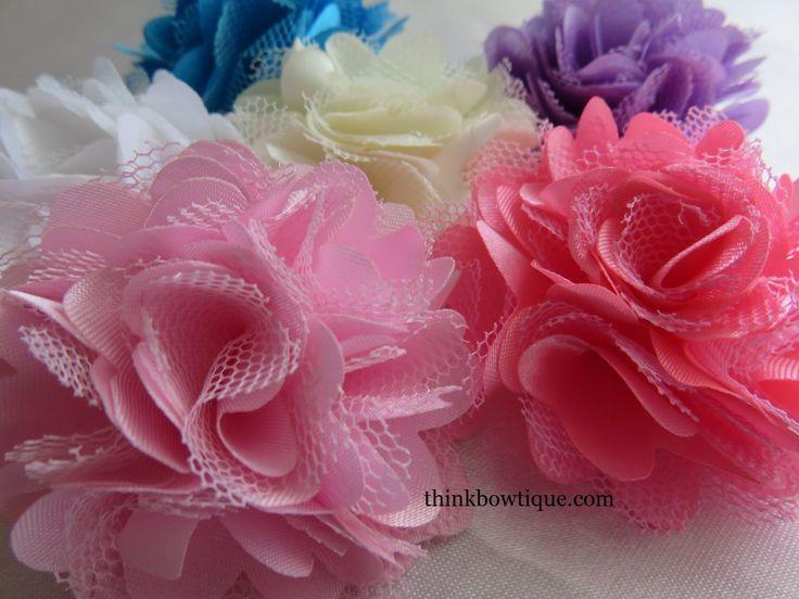 5cm Satin mesh flower