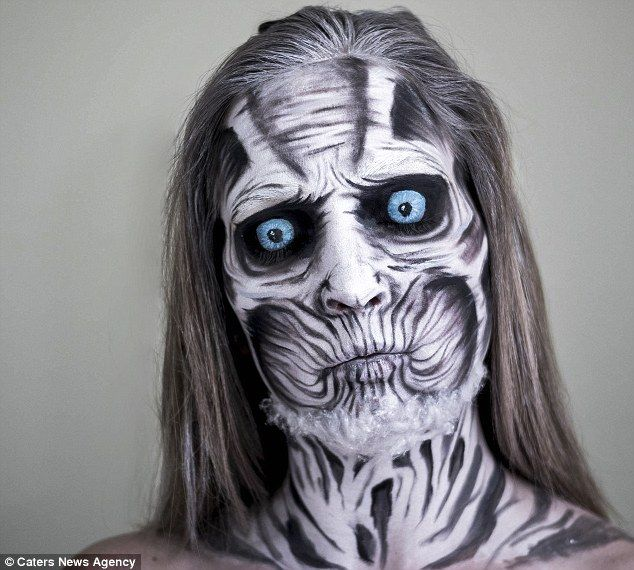 Make,up artist spends THREE hours painstakingly transforming herself