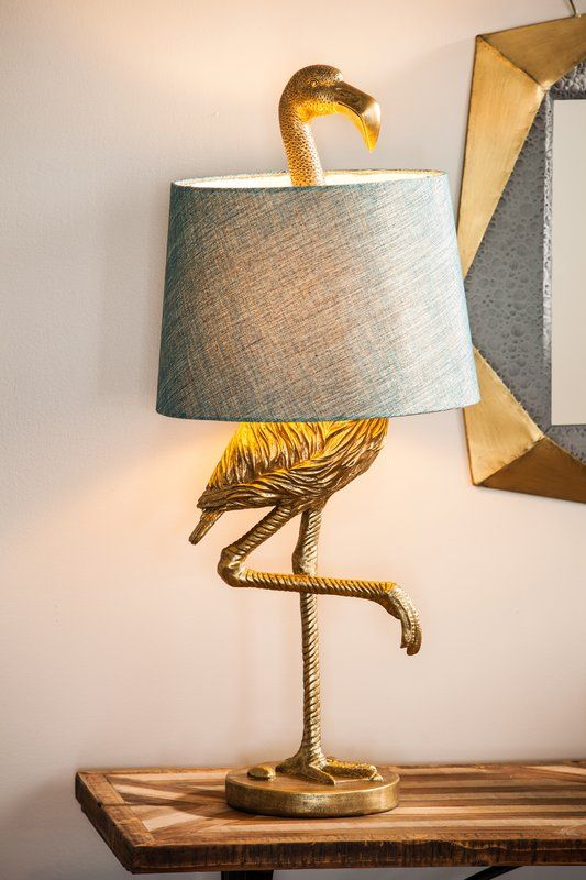 A little quirky and definitely unique and fun flamingo lamp. #ad #flamingos #lamp