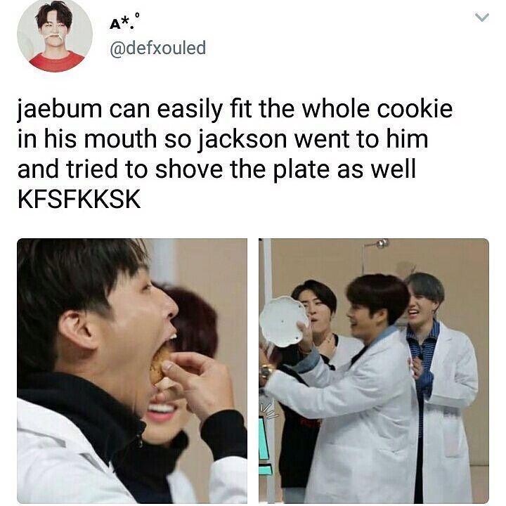 """I know JB's talented in all but I'll draw the line before """"plate in mouth"""""""
