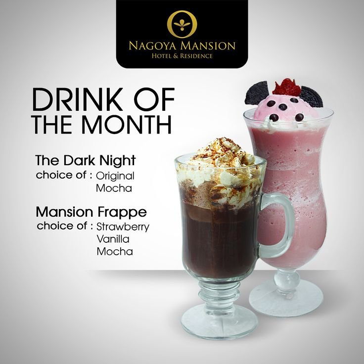 The Dark Knight and Mansion Frappe are ready to fill up your thirsty soul