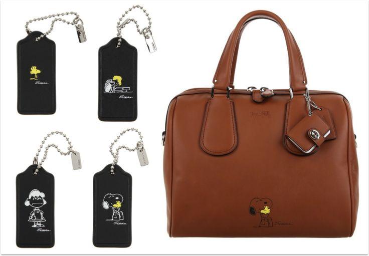coleção de bolsas e acessórios Coach Snoopy, com detalhes e desenhos da turma Peanuts!