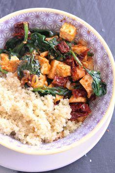 Tofu mariné et tomates séchées                                                                                                                                                                                 Plus