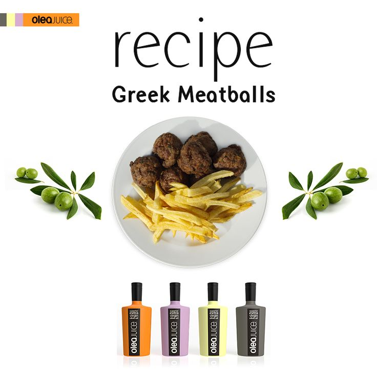 """Greek meatballs or """"keftedes"""" are considered a top-notch picnic fare! Try this all-star recipe and give your picnic a Greek touch  http://oleajuice.com/meatballs/   #food #delicious #greek #cuisine #oleajuice #recipe"""