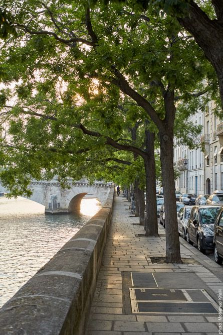 Quais de la Seine sur l'Île Saint-Louis, dans le coeur historique de Paris (France). Photo : Mohamed Khalil