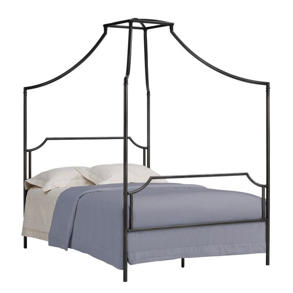 bailey charcoal full size canopy bed frame bailey full size bed grey