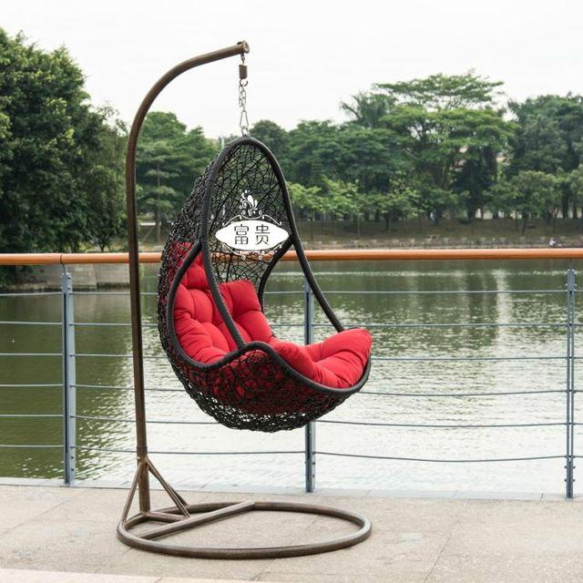 Открытый кресло-качалка качели висит крытый корзины на белые плетеные подъемники Дешевые колыбели