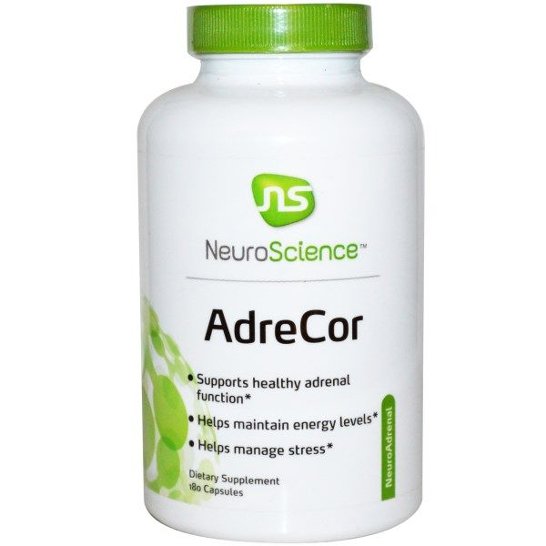 NeuroScience, Inc., AdreCor, 180 Capsules  #stress #formula #support #balance #management #iherb #thingstobuy #shopping #relief