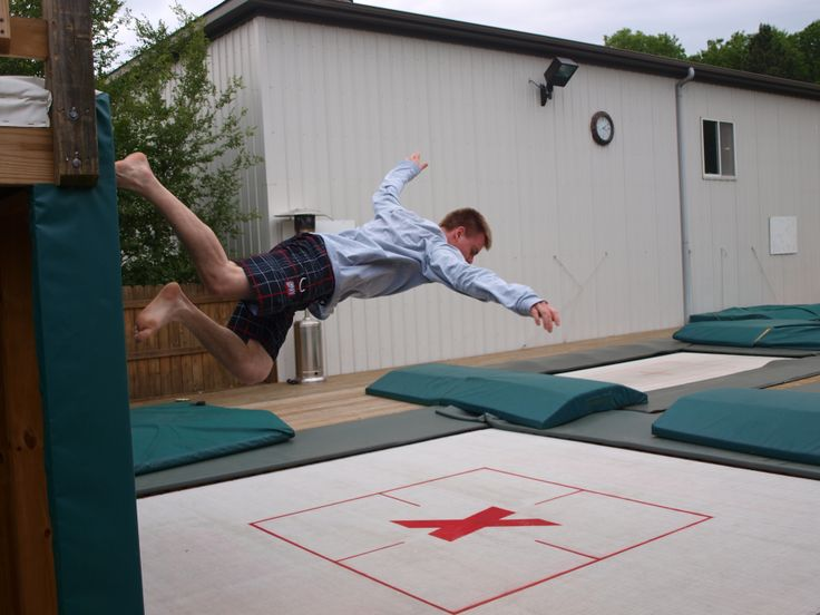 win or fail? Greg Roe on the Super Quad trampoline--one of the highest bouncing, yet safest trampolines on the market: maxairtrampolines.com in ground trampoline